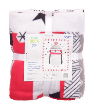 No Sew Fleece Throw-Penguin