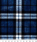 Luxe Flannel Fabric -Blue Plaid