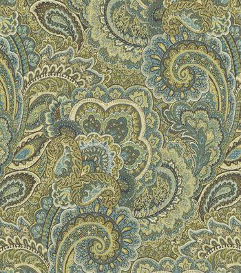 "Waverly Multi-Purpose Decor Fabric 57""-Treasure Gems Sea Grass"