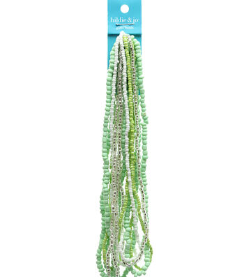 hildie & jo Glass Strung Seed Beads-Green
