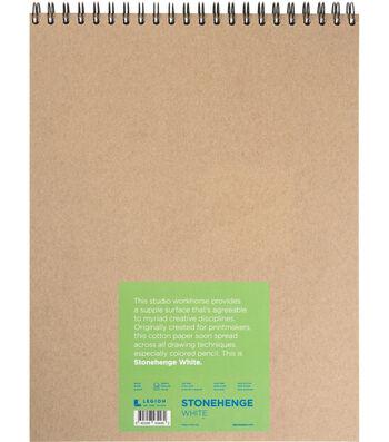 Stonehenge 32-sheet 11''x14'' 90 lbs. Spiral Paper Pad-White