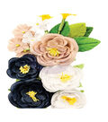 Prima Marketing Georgia Blues Fabric Flowers 16/Pkg-Gwinett