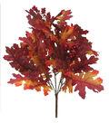 Blooming Autumn Oak Leaves & Berries Bush-Red