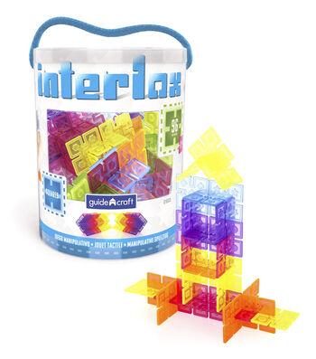 Interlox Interlox Squares Building Set, 96 pieces