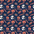 Auburn University Tigers Cotton Fabric-Tone on Tone
