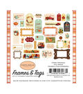 Fall Break Ephemera Cardstock Die-Cuts 33/Pkg-Frames & Tags