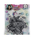 Art By Marlene Background Cling Stamp-Leaves