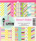 Pink & Main 24 sheet 6\u0027\u0027x6\u0027\u0027 Double-Sided Paper Pad-Beach Babe
