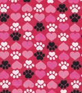 Snuggle Flannel Fabric -Paws & Hearts