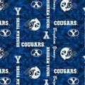 Brigham Young University Cougars Fleece Fabric -Digital