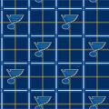 St. Louis Blues Flannel Fabric-Box Plaid