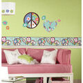 York Wallcoverings Wall Decals-Heart & Flower Peace Sign