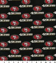 San Francisco 49ers Cotton Fabric -Black, , hi-res