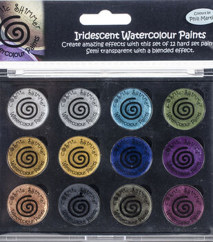 Cosmic Shimmer Iridescent Watercolor Palette Set 10-Decadent Metals