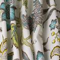 Waverly Sun N Shade Fabric-Jacobean Flair Turquoise