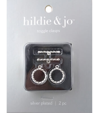 Silver Plated Metal Findings-Rope Toggle 2/Pkg