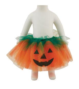 Maker's Halloween 19''x8'' Toddler Tutu Costume-Pumpkin