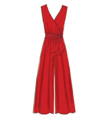 McCall's Pattern M7577 Misses' Cross-Bodice Romper, Jumpsuit & Belt