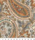 Home Decor 8\u0022x8\u0022 Fabric Swatch-Plumtree Paisley Persimmon