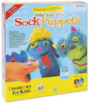 Creativity for Kids Make Your Own Sock Puppets Kit, , hi-res