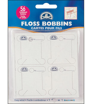 Cardboard Floss Bobbins- 56/Pkg