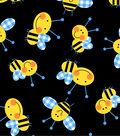 Twill Gingham Fabric-Bumblebee Black