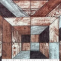 Anti-Pill Plush Fleece Fabric-Textured Wood Panel