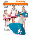 Simplicity Pattern 3836-Child & Girl 50\u0027s Girl Costumes
