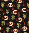 San Francisco Giants Cotton Fabric -Glitter