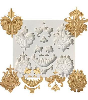 NY Cake Silicone Mold-White Medallions & Trims