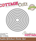 CottageCutz Basics Dies-Double Stitch Circle .8\u0022 To 3.8\u0022