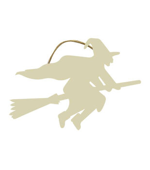 Maker's Halloween Craft Wooden Flying Witch Hanging Sign