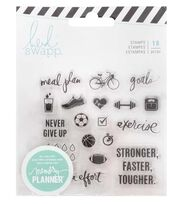 Heidi Swapp Fresh Start Clear Stamps-Exercise, , hi-res
