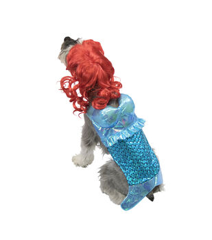 Maker's Halloween Pet Costume-Mermaid Large