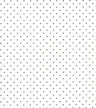 Quilter's Showcase Cotton Fabric -Black Swiss Dots on White