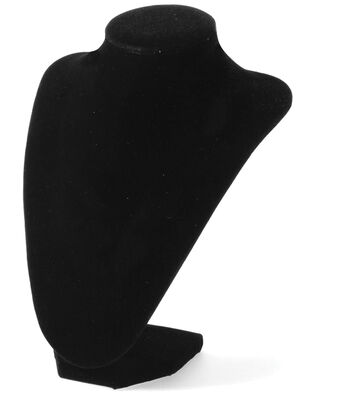 """Bust Necklace Stand 9""""-Black Velvet"""
