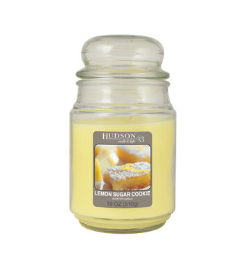 Hudson 43 Candle & Light Collection 18oz Value Jar Lemon  Sugar Cookie