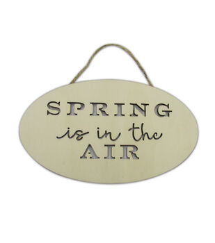 Simply Spring Crafts Laser Cut Wood Oval Plaque-Spring in the Air