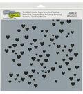 The Crafter\u0027s Workshop 12\u0027\u0027x12\u0027\u0027 Stencil-Micro Hearts