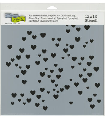 The Crafter's Workshop 12''x12'' Stencil-Micro Hearts