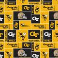 Georgia Tech Yellow Jackets Fleece Fabric -Block