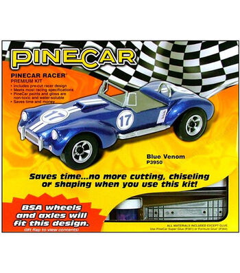 PineCar Blue Venom Racer Premium Kit