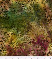 Legacy Studio Cotton Fabric 44''-Scroll on Batik, , hi-res