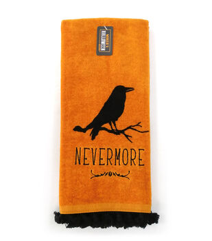 Maker's Halloween Decor 16''x26'' Towel with Trim-Nevermore & Crow