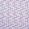 Super Snuggle Flannel Fabric-Hearts & Dots on Purple