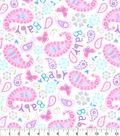 Nursery Flannel Fabric -Sweet Baby Love