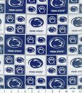 Penn State University Nittany Lions Cotton Fabric 43\u0027\u0027-Block