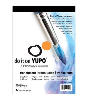 Legion Paper Yupo Translucent 15 pk 5''x7'' Sheets