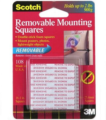 Scotch Removable Mounting Squares 1""