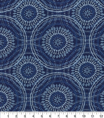Kelly Ripa Home Upholstery Swatch 13''x13''-Bluejay Spiral Graph